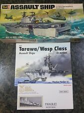 Revell Vintage 1/720 USS Assault Tarawa Ship Great Condition Very Rare Inc Book