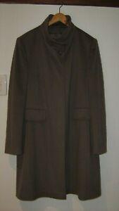 Superb Funnel Neck Superfine Wool Coat by BASLER.    Size 14