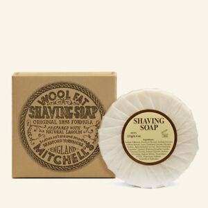 Mitchell's Wool Fat  Shaving soap Ceramic Cream Refill Jar Brush sensitive Skin