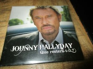 Johnny Hallyday-Cd hors commerce-Promotionnel-Que restera t il? RARE
