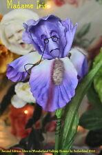 """Alice In Wonderland Resin Talking Flowers """"Madame Iris"""" By Sutherland"""