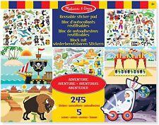 REUSABLE STICKER PAD - ADVENTURE Creative Activity Toy - Melissa & Doug