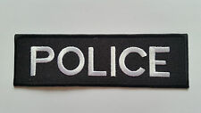 NOVELTY MILITARY SEW ON / IRON ON PATCH:- POLICE (a) BLACK & WHITE STRIPE