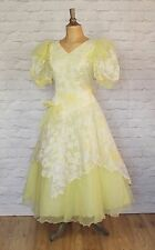 Vintage Dress Gown 80s Women Victorian Style Prom Evening Cocktail Party L/8