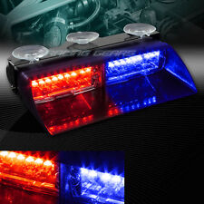 16 RED & BLUE LED EMERGENCY HAZARD WARN INTERIOR FLASH STROBE LIGHT UNIVERSAL 1