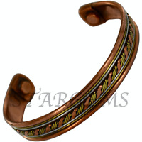 PURE COPPER MAGNETIC THERAPY BRACELET TRIBAL CUFF ARTHRITIS PAIN RELIEF BANGLE