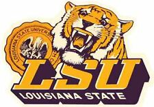 LSU Tigers College University   Vintage Style  Souvenir Sticker Travel Decal
