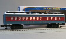 Lionel O Gauge Polar Express Snow Roof Diner Car train New Design 6-84604