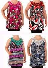 Lockre Sitzende Ärmellose Damenblusen,-Tops & -Shirts im Tuniken-Stil mit Polyester