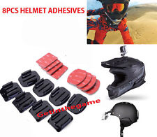 8Pcs Helmet Flat Curved Adhesive Mounts Accessorie For Gopro Hero 1 2 3 4 Sjcam