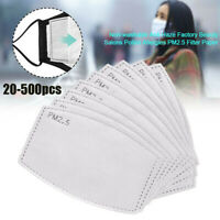 Adult Child 1-500PCS Filter 5 Layers Replacement PM2.5 Activated Carbon Face