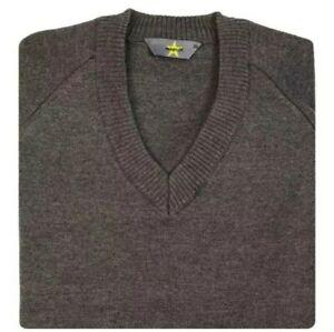 Magicfit Size 36 IN School Uniform Grey Cotton-Mix V-Neck Jumper BRAND NEW !