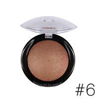 6 Colors Makeup Bronzer Blush Palette Baked Shimmer Bright Blusher Highlighter#