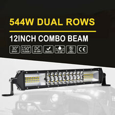 12Inch LED Light Bar DUAL Row Spot Flood Driving Fog Offroad 4WD Work Lamp AU