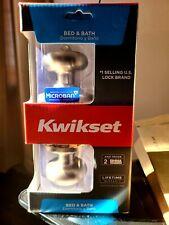 Kwikset Signature Series Standard Satin Nickel Bed & Bath Door Knobs *Read*