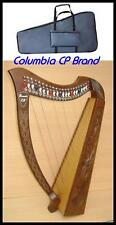 """CP BRAND NEW 27 STRINGS 39"""" HIGH LEVER HARP PLUS CARRY BAG HAND ENGRAVED QUALITY"""