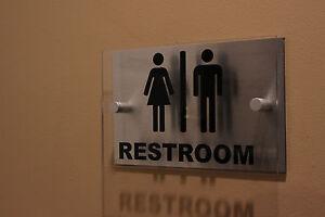 Acrylic & Aluminum Restroom Sign!