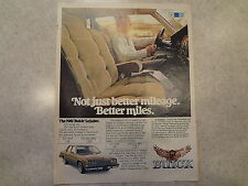 "1981 Buick LeSabre Vintage Magazine Ad ""Not just better mileage."""