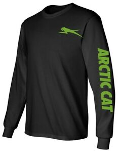 ARCTIC CAT Long Sleeve BLACK T-Shirt SNOWMOBILE ATV Choose Design Color XF ZR