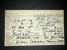 1945 REDS: Mike Modak SIGNED Heilbroner 3x5, Dec'd!