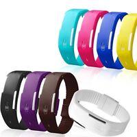 Fashion Kids Silicone Rubber Band Watch Led Digital Sport Quartz Wrist Watches