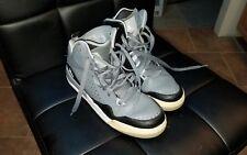Air Jordan Flight 45 Grey Black Basketball Shoes 629942-004  Size 7Y GUC