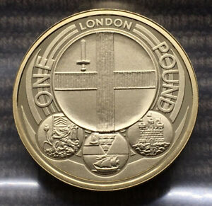 2010 London PROOF £1 pound coin Royal Mint Captial Cities of UK