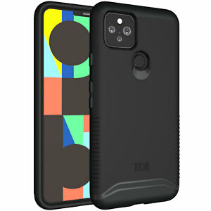 for Google Pixel 5 Case, TUDIA MERGE Slim-Fit HEAVY DUTY Dual Layer Cover Case