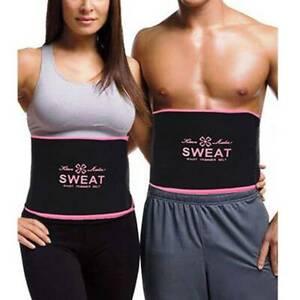 Women Men's Waist Trainer Belt Belly Fat Burner Body Shaper Slimming Sweat Belt