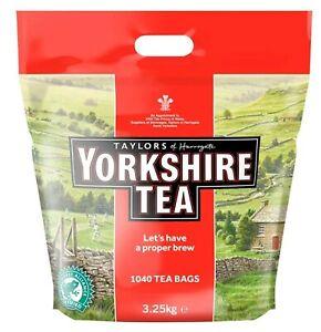1040 Tea Bags Taylors of Harrogate Yorkshire Tea  - 3.25kg Bag