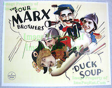 80's Vintage ☆ Duck Soup ☆ 4 Marx Brothers ☆ Groucho Harpo + Lobby Card Poster