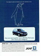 PUBLICITE ADVERTISING 126  1999   la Peugeot 306  Eden Park