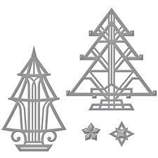 Spellbinders Shapeabilities Die- S4-657 - Art Déco Arbres - Cartes de Noël