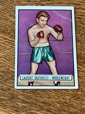 1951 Topps Ringside Boxing card #38 Laurent Dauthuille