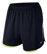 "Ret$70 NWT NIKE 5"" PHENOM 2-IN-1 Men's Running Shorts SZ Large 683215-010 Black"