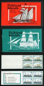 Falkland Islands note after Scott #274 MNH BOOKLETS Mail Ship Blocks 5 ea. $$