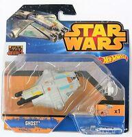 Star Wars Rebels Hot Wheels Ghost modellino con base ad anello nuovo Disney