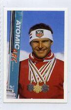 (Jh359-100) RARE,Trade Card Booster of Marc Girardelli ,Ski Racer  1986 MINT