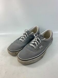 Vans Canvas Gray Skate Shoes Lace Up Mens Size 11 #507425