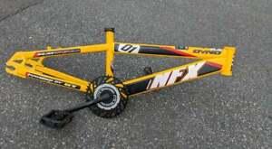 VINTAGE DYNO GT NFX BMX FRAMESET, USED, INCLUDED GT CRANK AND STEM, STEEL