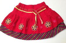 Deux Par Deux Girls Corduroy Swing Layered Skirt Size 18 months~Boutique Brand