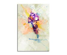 90x60cm PAUL SINUS Splash Art Gemälde Kunstbild Rallye_Dakar Mehrfarbig