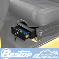 Bestop Under Driver Seat Locking Storage Box 97-06 Jeep Wrangler TJ & Unlimited