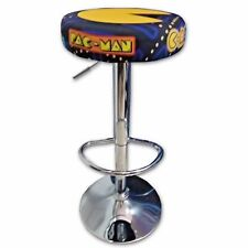 TABURETE ARCADE PAC-MAN ACERO CROMADO REGULABLE ACOLCHADO RECREATIVA BARTOP