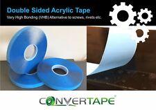 Very High Bonding (VHB) Acrylic Tape Banner Signs Metal Plastic Glass - CLEAR