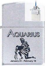 Zippo 9282 horoscope aquarius Lighter & Z-PLUS INSERT BUNDLE