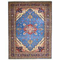 Hand-Knotted Fine Kazak Caucasian Design Handmade Wool Rug 9.0 X 12.0 Brral-6411