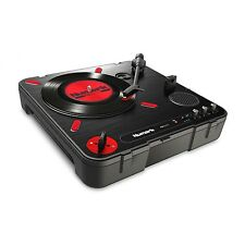 Numark PT01 Scratch Portable Turntable incl. USB, Slipmat + Speakers NEW