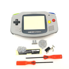 Grey Housing Shell Case Mix Color Buttons for Nintendo Game Boy Advance GBA