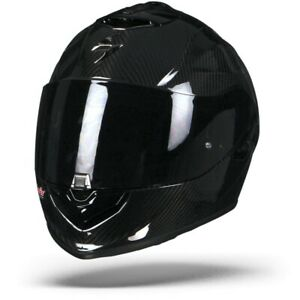 Scorpion EXO-1400 Air Carbon Solid Gloss Black Motorcycle Helmet - New! Free ...